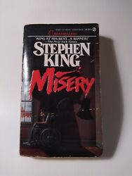 MISERY Stephen King Signet Paperback 1988 RARE Extra Cover Horror Book $9.95
