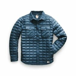 NEW The North Face Men#x27;s ThermoBall Eco Insulated Snap Jacket Blue Size Medium $94.95