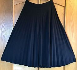 Skirt Women#x27;s Black Maxi Skirt Lightly Pleated Full Length Stretchy Plus Size XL $25.00