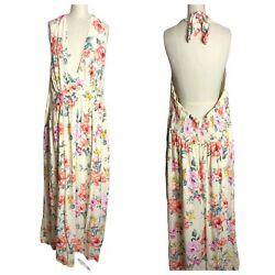 Forever 21 Womens Multicolor Halter Floral Maxi Dress Spring Plus Size 3X? $24.99