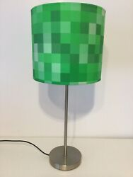 Handmade 100% cotton fabric pixel multi green colour table lamp shade 20cm 8quot; GBP 25.99