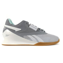 Reebok Women#x27;s Legacy Lifter II Cold Grey 2 Cold Grey 4 White Weightlifting S... $131.99