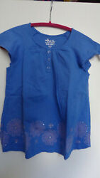 EUC OLD NAVY COLOR BLUE GRAY LOOSE FIT Top SHIRT TUNIC GIRLS SIZE M 8 $8.00