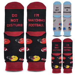 Unisex Women Novelty Letters #x27;Do Not Disturb I#x27;m Watching Football#x27; Socks Gift $8.99