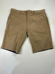 MENS NEXT PREMIUM W38quot; CAMEL ZIP FLY SMART CASUAL CHINO SUMMER TAILORED SHORTS GBP 9.99