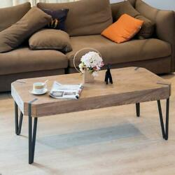 New 46quot; Long Rustic Coffee Table Wood Table for Living Room Home Furniture $98.95