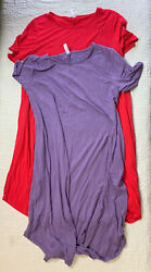 Zenana Outfitters Maxi Dresses Purple Red Women Size 2X Lot of 2 $15.29