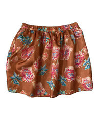 NWT Gymboree Taffeta Floral Skirt Girls 14 Holiday Party 14 Pockets Orange Pink $15.99