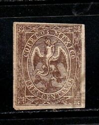 Mexico stamps #18 used light cancellation 1864 1866