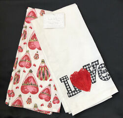 Nicole Miller Home Set of 2 Coordinating Kitchen Towels 20quot; x 28quot; NWT $15.99