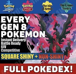 Pokemon Home ALL Pokemon from GEN 8 Full Living Dex SHINY and NON SHINY $6.99