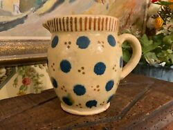 French Vintage French Yellow Pottery Jug Pitcher Alsace Region of France $155.00