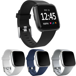 Replacement Silicone Rubber Band Strap Wristband For Fitbit Versa 1 2 Lite Watch $4.50