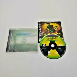 PS1 Nuclear Strike Helicopter Game CIB Complete Manual Playstation Black Label $9.95