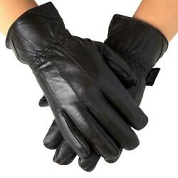 Alpine Swiss Mens Touch Screen Gloves Leather Thermal Lined Phone Texting Gloves $17.21