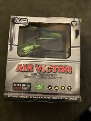 XB Air Victor 2ch MINI INFRARED REMOTE CONTROL HELICOPTER Toy Green Tons of fun $15.00