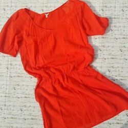 J. Crew Women#x27;s Whisper Gauze Orange Dress Size M NWT