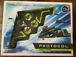 Protocol Quad Copter 4 Channel Stealthwing Flying Wing RC Gyro Stabilizer New $80.00