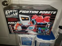 BIG ROBOTS Fighting Robots 2 Pack 2 RC Powered Robots amp; 2 Real Time Controllers $110.00