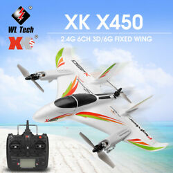 WLtoys XK X450 RC Airplane Fixed Wing Aircraft 2.4G 6CH 3D RC Helicopters G0Y4 $110.16