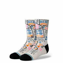 Stance Kids Socks #x27;Boom Box Kids#x27; Youth Large 3 5.5 Crew New With Tags $10.99