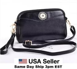 Snap Jewelry Black Leather Wristlet Purse Bag Fits 18 20mm Ginger Snaps Quality