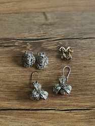 Lot Of 3 Antique Pairs Of Earrings p3 $44.95