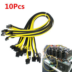 10pcs lot 20cm 6 Pin to 8Pin 62Pin PCI E PCIE Cable Mining Adapter 18AWG Cord $18.80