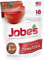 Jobes Tomato Fertilizer Spikes Nourishers at the Roots 18 Spikes $6.99