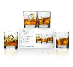 Unbreakable Cocktail Whiskey Glass Tritan Plastic Dishwasher Safe Reusable Cup $25.00