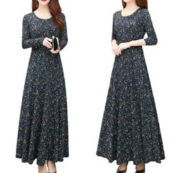 Womens Long Sleeve Floral Maxi Dress Ladies Evening Party Dresses NEW Plus Size $16.33