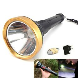 High Powerful LED FlashLight Torch USB rechargeable long Lamp Tactical Lanterna $11.99