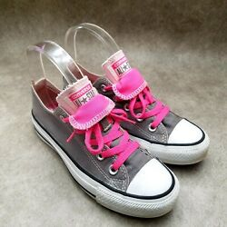 Converse All Star Womens 542017F Sz 5 M Gray Pink Low Top Double tongue Sneakers $23.99