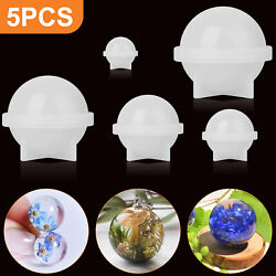 Silicone Resin Casting Mold DIY Round Epoxy Mould Craft Jewelly Making Tool Kit $9.48