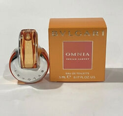 Bvlgari Omnia Indian Garnet By Bvlgari 5ml EDT Splash Mini For Women New In Box $14.99