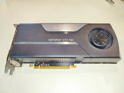 Used Nvidia evga geforce gtx 760 2gb video card $82.50