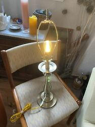 "Stiffel Polished Brass Table Lamp 28"" With Harp And Finial $60.00"
