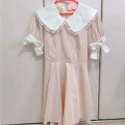 Swankiss: Gothic and Lolita OP Pink White Dress Kawaii Japanese Clothes TG S