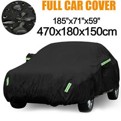 L 420D Oxford Waterproof Full Car Cover Dust Snow Protection Outdoor For Sedan