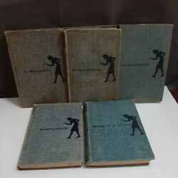 Five Vintage Nancy Drew Books 30s 50s Old Clock Hidden Staircase Bungalow $29.99