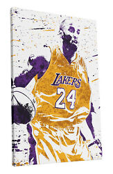 Kobe Bryant Los Angeles Lakers Art Wall Room Canvas Poster CANVAS $24.99