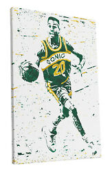 Gary Payton Seattle Supersonics Art Wall Room Canvas Poster CANVAS $24.99