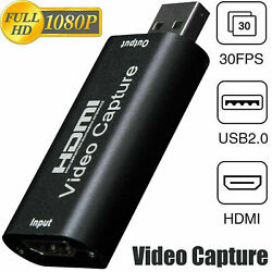 HDMI to USB Video Capture Card 1080P Recorder Phone Game Video Live Streaming US $6.97
