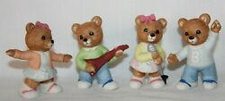 VTG HOMCO 4 PC Porcelain Bears Poodle Skirts Rock amp; Roll Group 50#x27;s Style #1421 $16.00