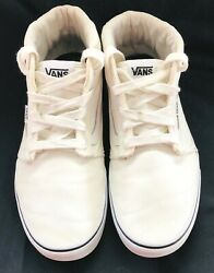 Vans Off The Wall White Canvas High Tops Skateboard Sneakers Mens 12 $34.00