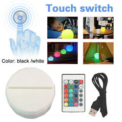 3D Lamp USB LED Base For Acrylic Night Light Plate Panel Cable Remote Holder $8.27