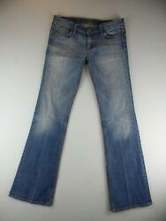 7 for All Man Kind Womens Low Rise Light Wash Bootcut Jeans Size 12? $17.95