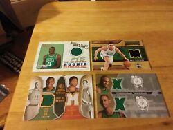 Boston celtics game used and autograph card lot of 6 $35.00