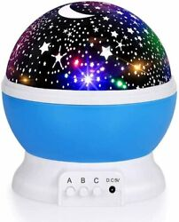 Baby Night Lights Moon Star Projector 8 Color Changing Table Lamps for Kids GIFT $2.28