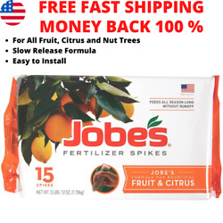 Jobes Fertilizer Spikes Fruit and Citrus Tree for Apple Peach Cherry Nut Trees $16.72